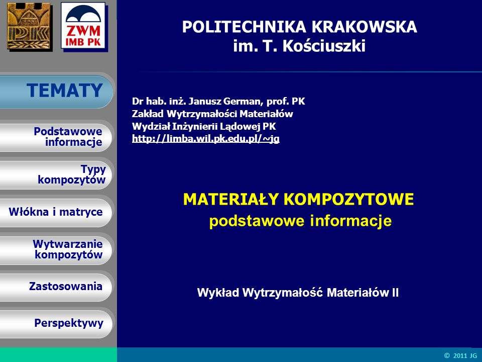 POLITECHNIKA KRAKOWSKA im. T. Kościuszki