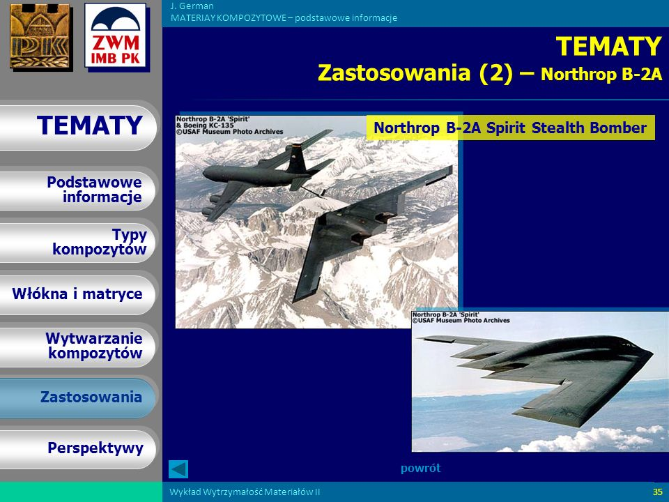 TEMATY Zastosowania (2) – Northrop B-2A