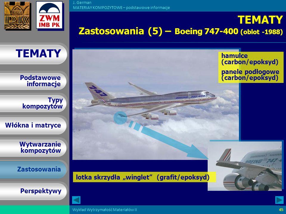TEMATY Zastosowania (5) – Boeing 747-400 (oblot -1988)