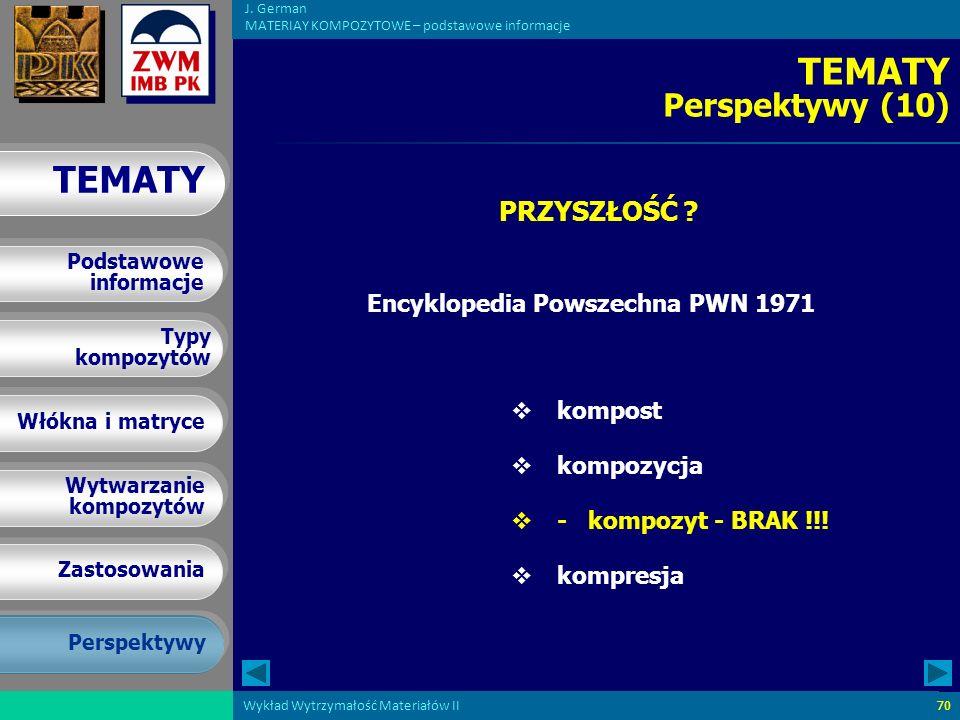TEMATY Perspektywy (10) PRZYSZŁOŚĆ Encyklopedia Powszechna PWN 1971