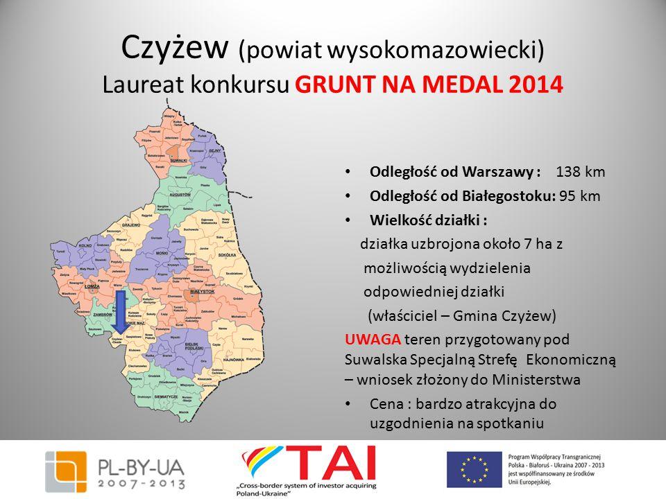 Czyżew (powiat wysokomazowiecki) Laureat konkursu GRUNT NA MEDAL 2014