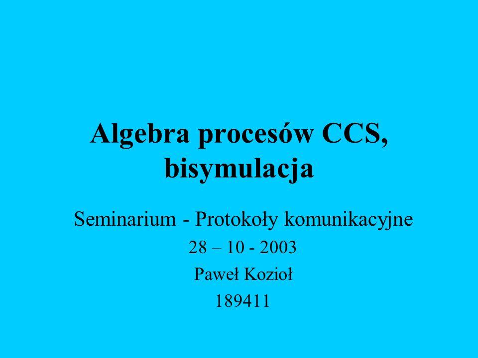 Algebra procesów CCS, bisymulacja