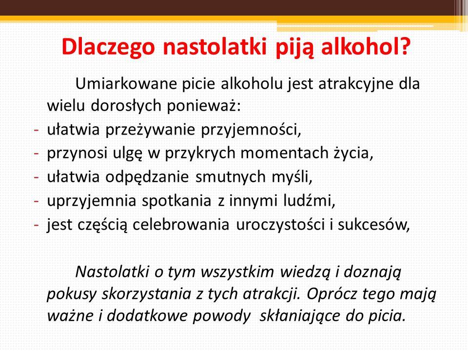 Dlaczego nastolatki piją alkohol