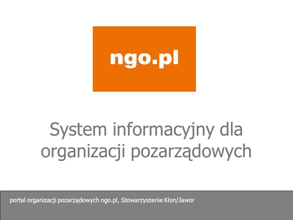 System informacyjny dla organizacji pozarządowych
