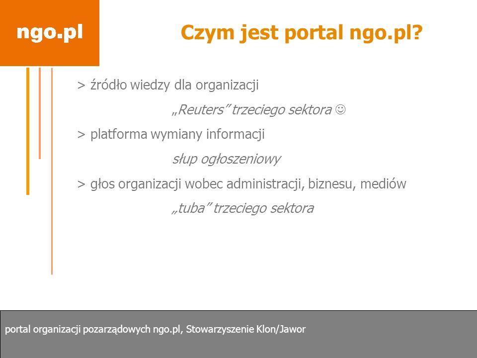 Czym jest portal ngo.pl > źródło wiedzy dla organizacji