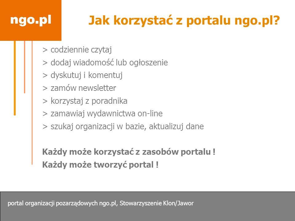 Jak korzystać z portalu ngo.pl