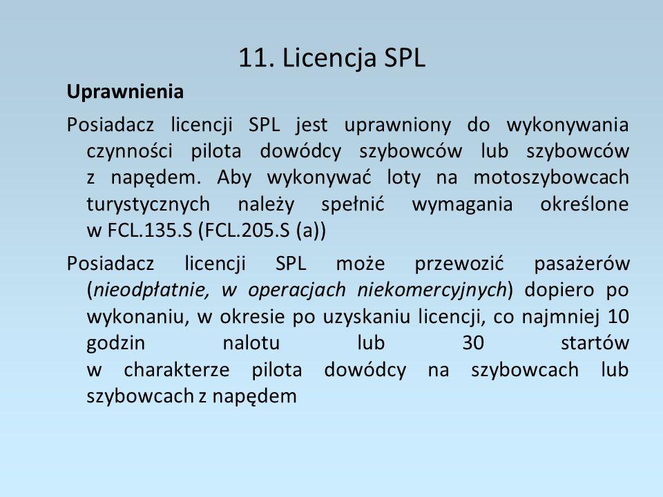 11. Licencja SPL Uprawnienia