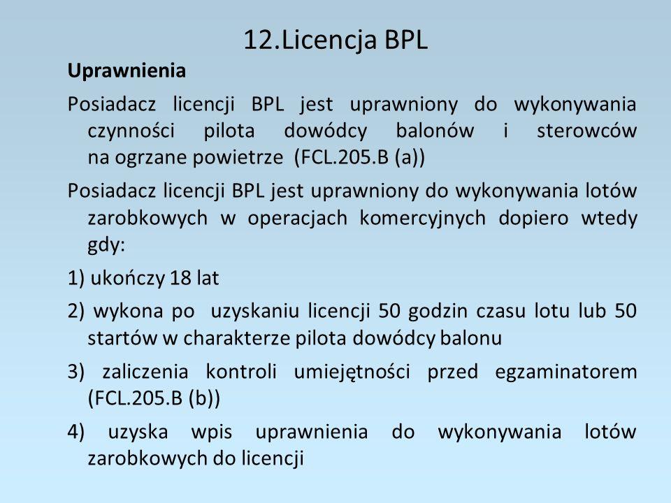 12.Licencja BPL Uprawnienia