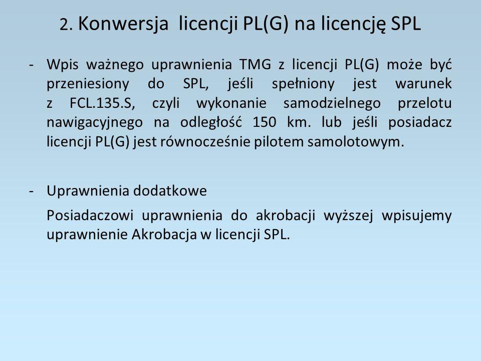 2. Konwersja licencji PL(G) na licencję SPL