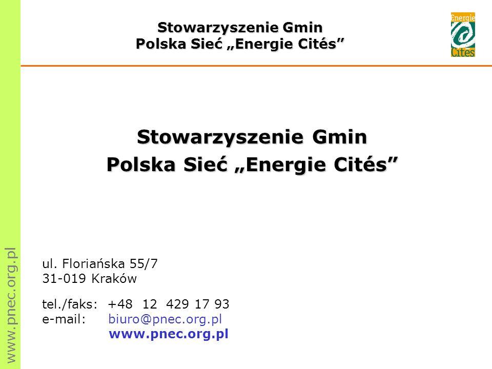 """Polska Sieć """"Energie Cités Polska Sieć """"Energie Cités"""