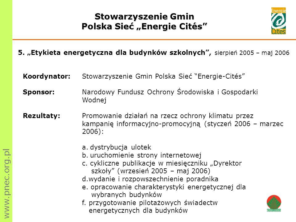 """Polska Sieć """"Energie Cités"""