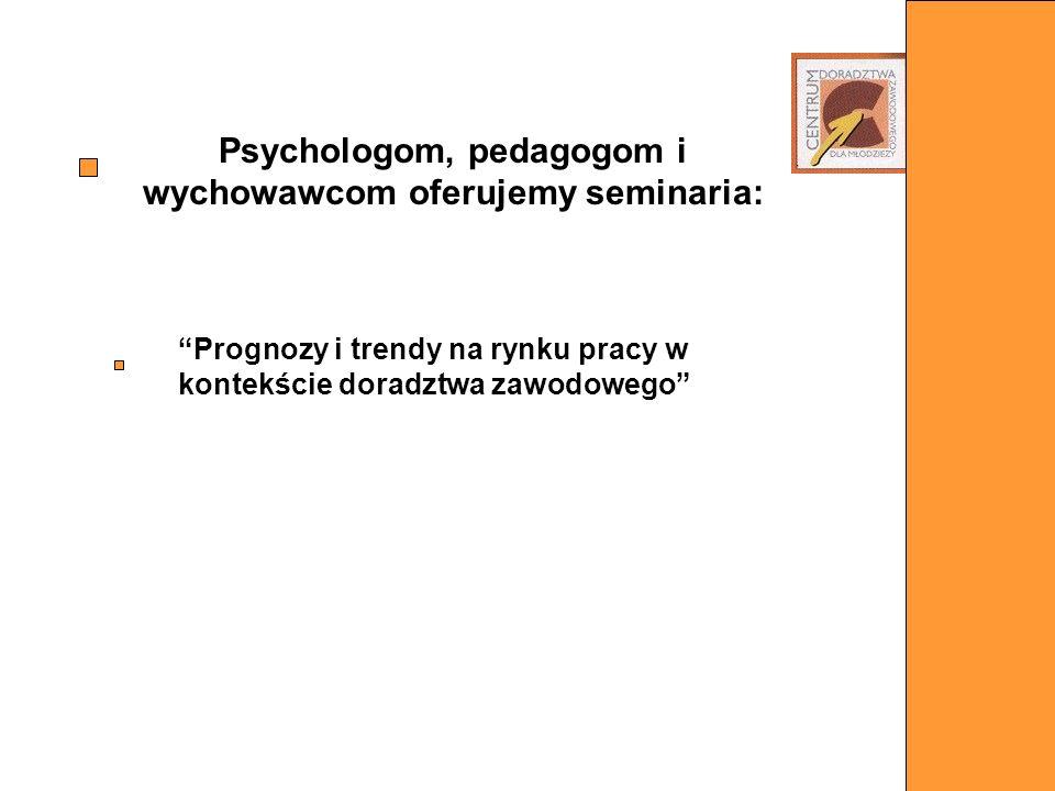 Psychologom, pedagogom i wychowawcom oferujemy seminaria: