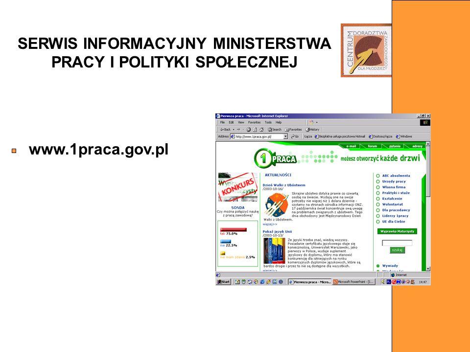 SERWIS INFORMACYJNY MINISTERSTWA PRACY I POLITYKI SPOŁECZNEJ