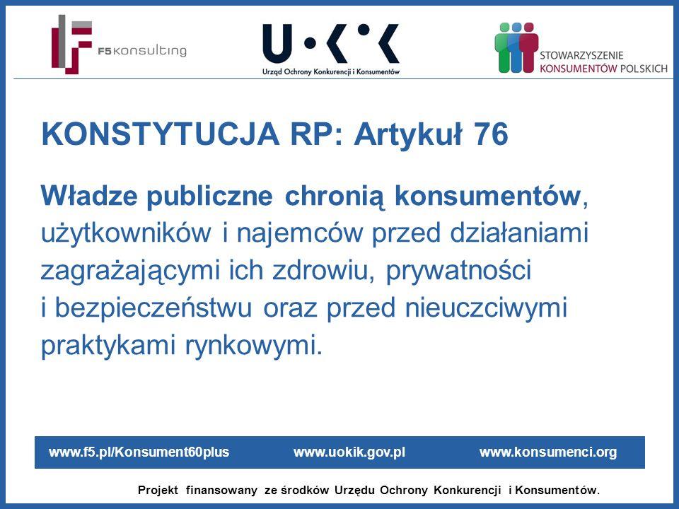 KONSTYTUCJA RP: Artykuł 76