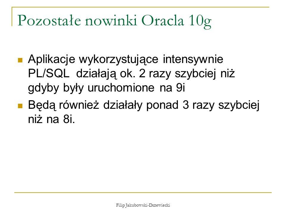 Pozostałe nowinki Oracla 10g