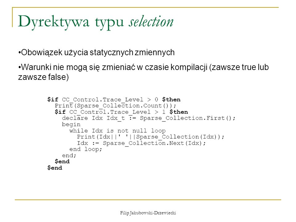 Dyrektywa typu selection