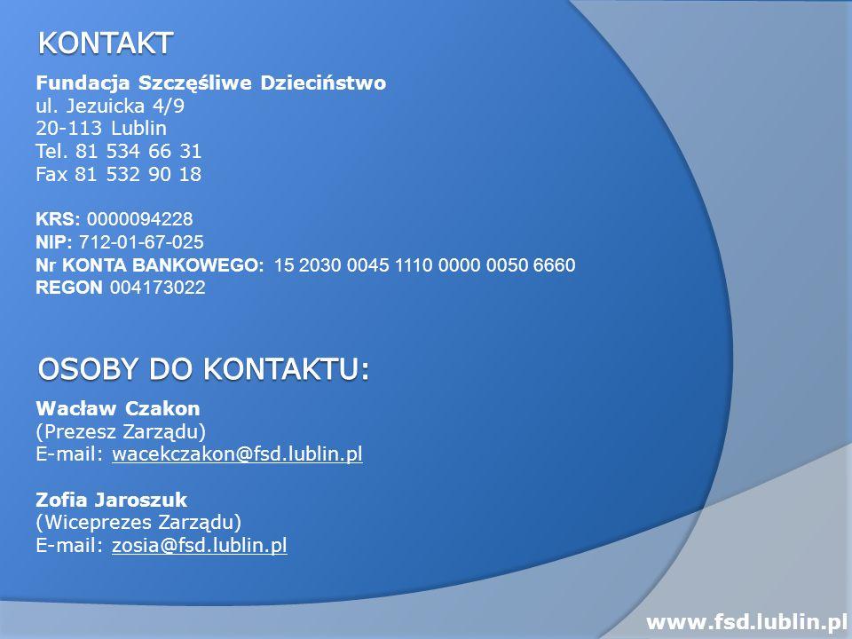 Kontakt Osoby do kontaktu: www.fsd.lublin.pl