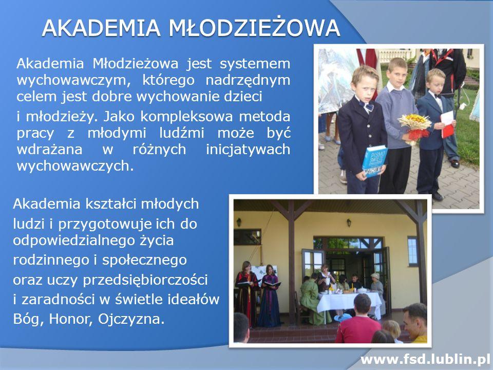 Akademia młodzieżowa Akademia Młodzieżowa jest systemem wychowawczym, którego nadrzędnym celem jest dobre wychowanie dzieci.