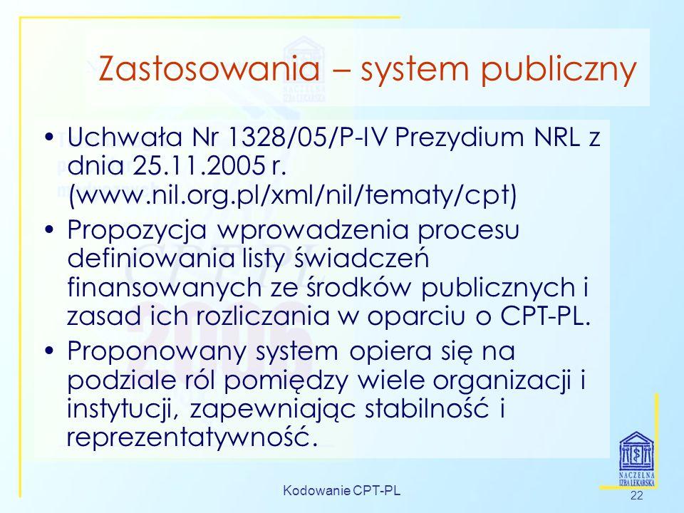 Zastosowania – system publiczny