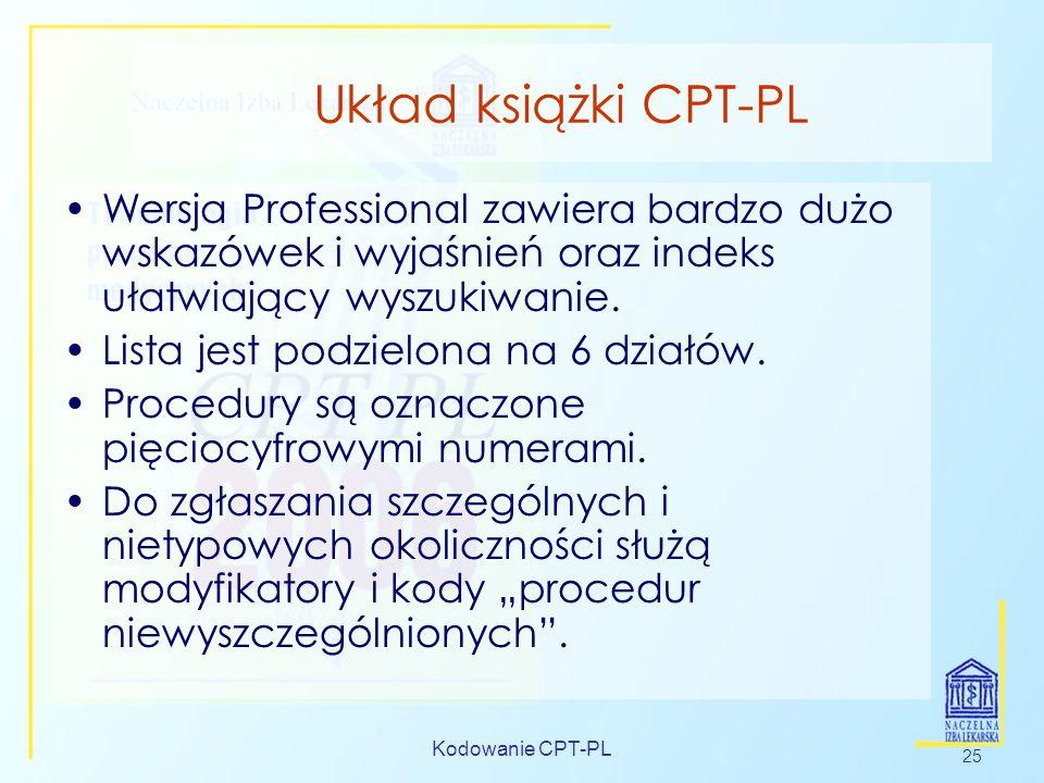 Układ książki CPT-PL Wersja Professional zawiera bardzo dużo wskazówek i wyjaśnień oraz indeks ułatwiający wyszukiwanie.