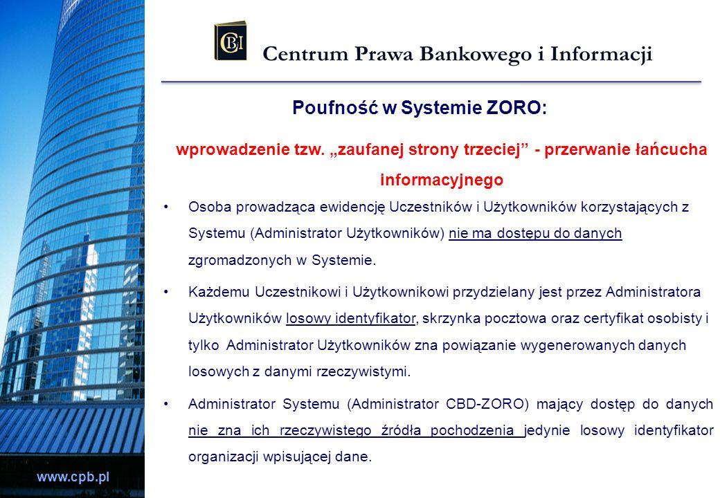 Poufność w Systemie ZORO: