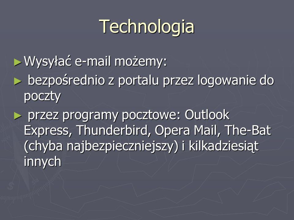 Technologia Wysyłać e-mail możemy:
