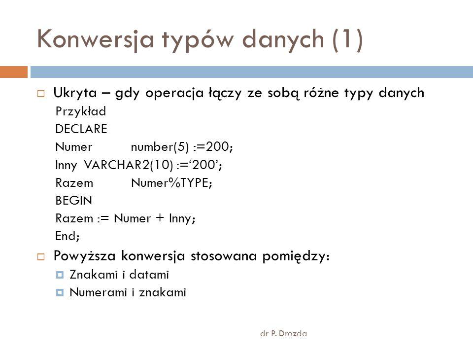 Konwersja typów danych (1)