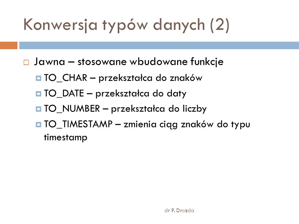 Konwersja typów danych (2)