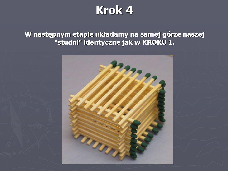 Krok 4 W następnym etapie układamy na samej górze naszej studni identyczne jak w KROKU 1.