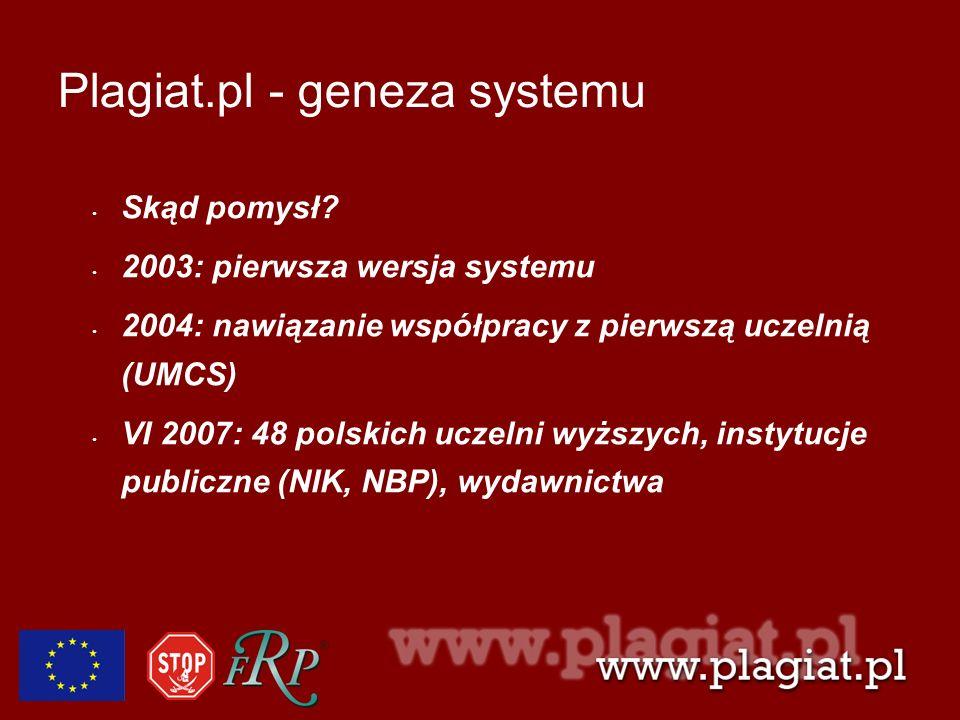 Plagiat.pl - geneza systemu