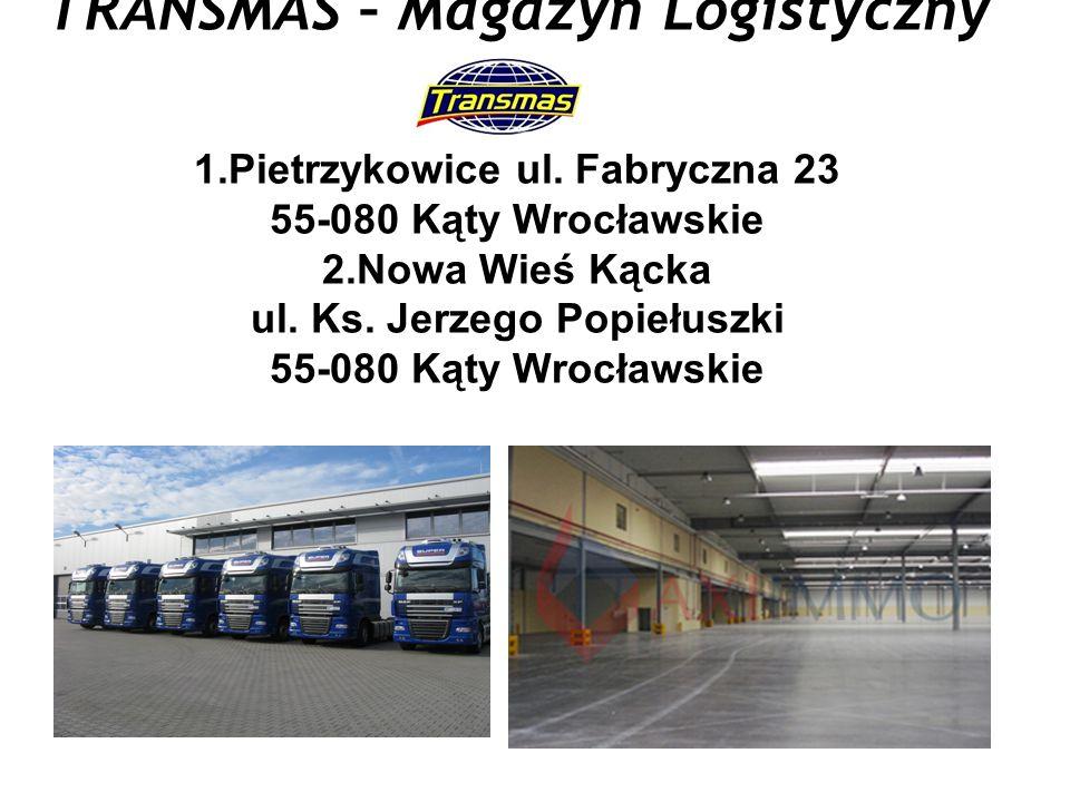 TRANSMAS – Magazyn Logistyczny 1. Pietrzykowice ul