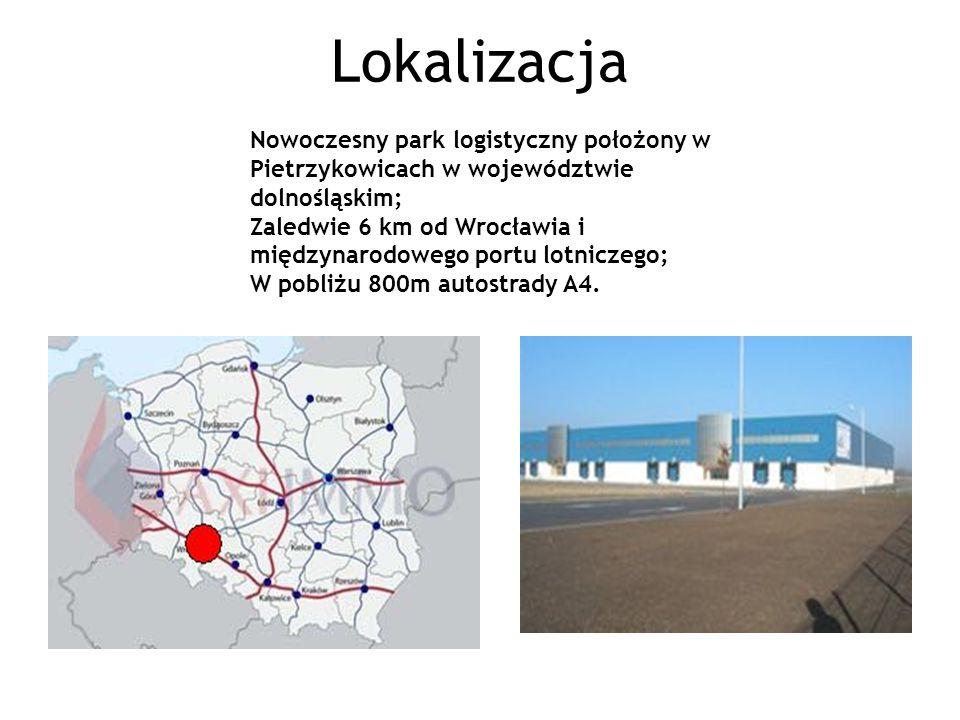 Lokalizacja Nowoczesny park logistyczny położony w Pietrzykowicach w województwie dolnośląskim;