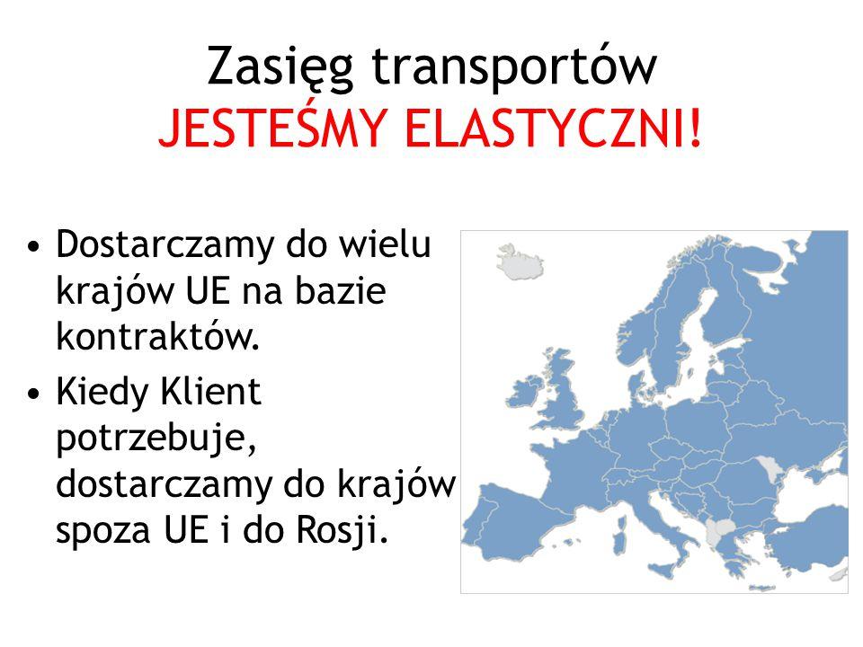 Zasięg transportów JESTEŚMY ELASTYCZNI!