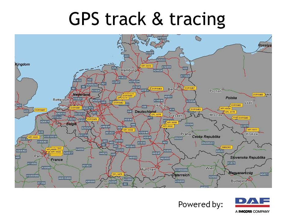 GPS track & tracing Powered by: