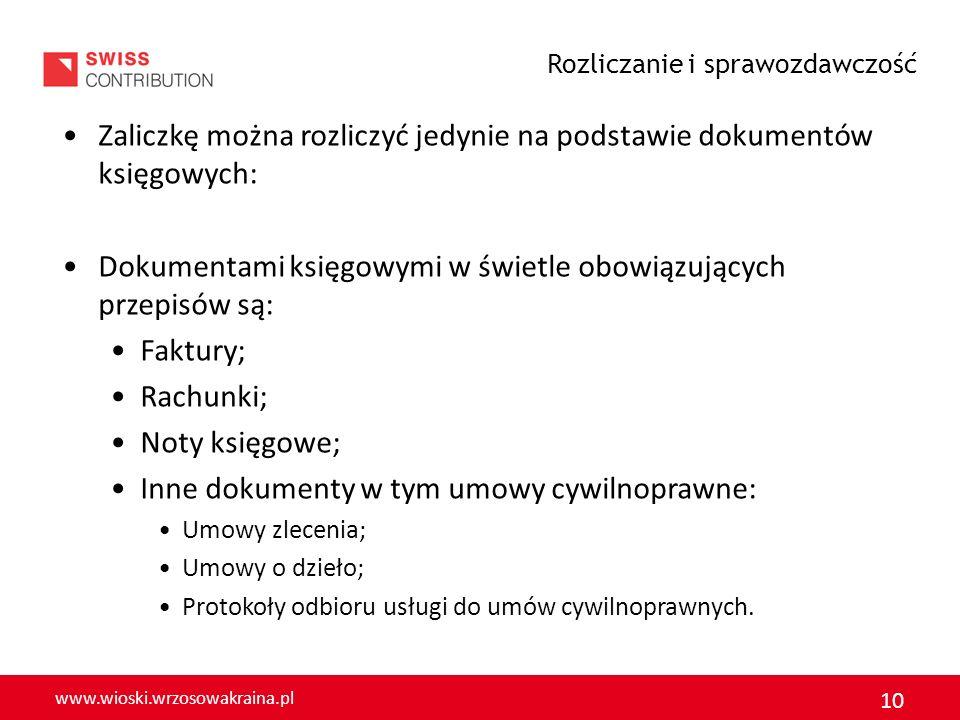 Zaliczkę można rozliczyć jedynie na podstawie dokumentów księgowych: