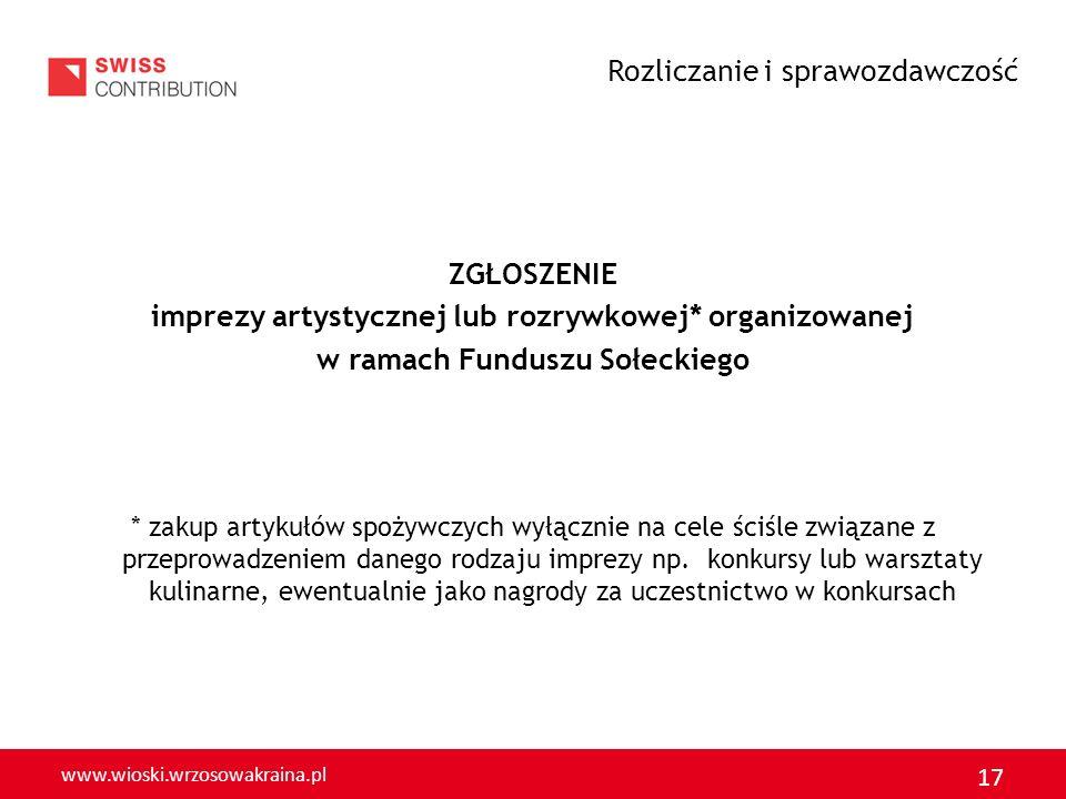 w ramach Funduszu Sołeckiego