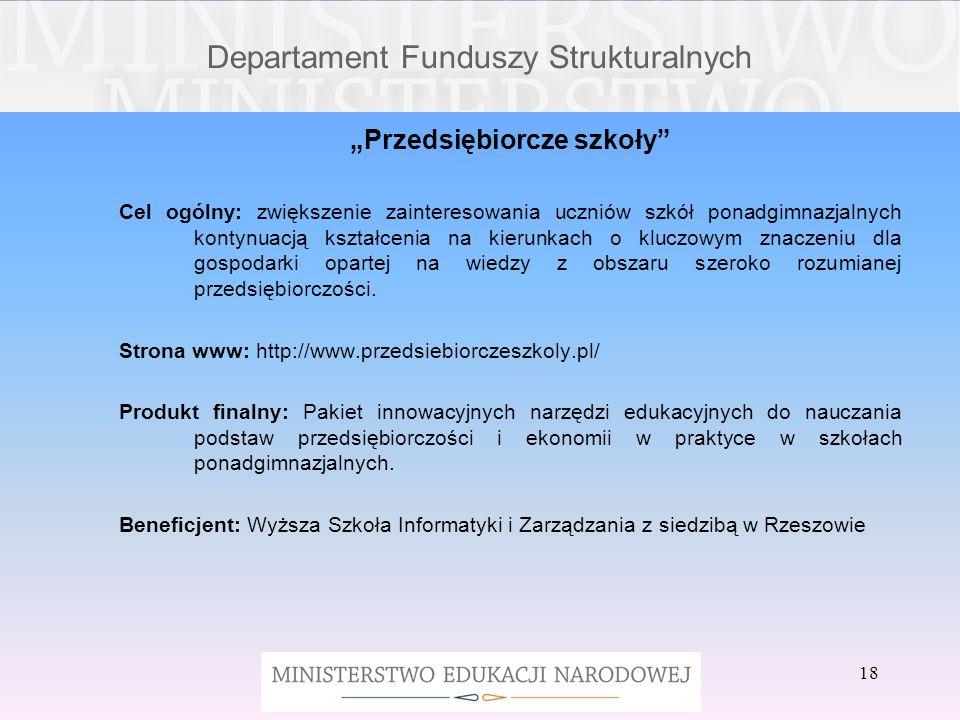 Departament Funduszy Strukturalnych