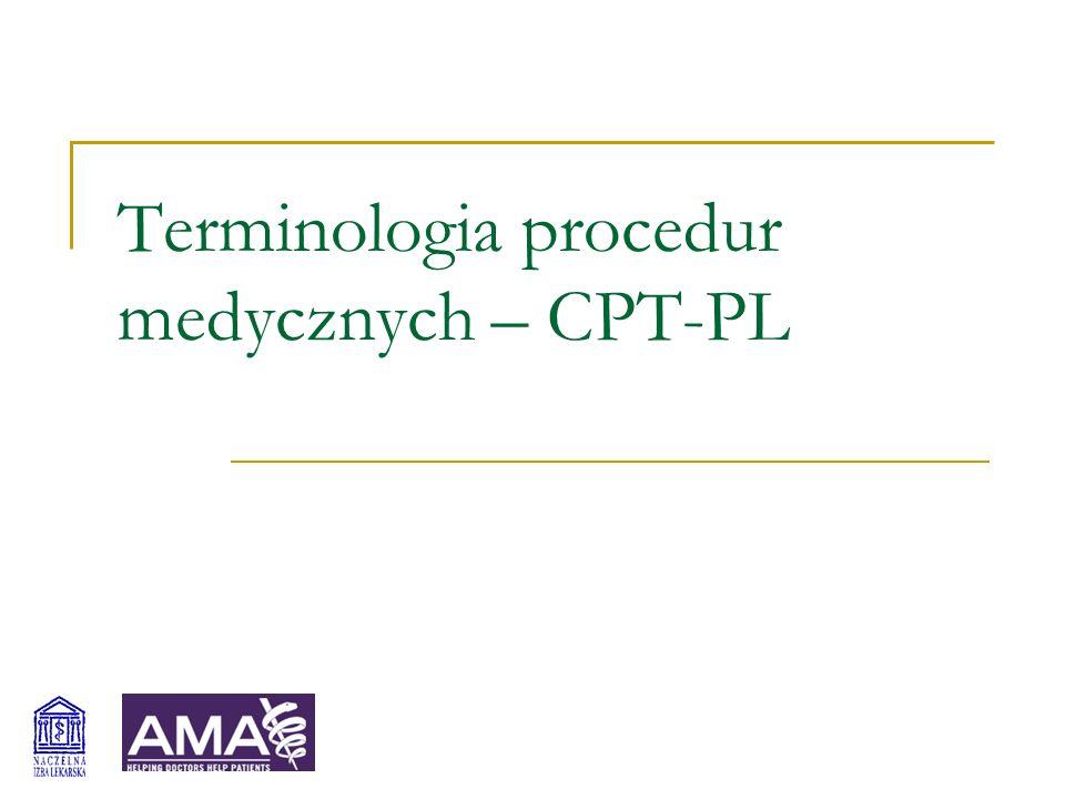 Terminologia procedur medycznych – CPT-PL