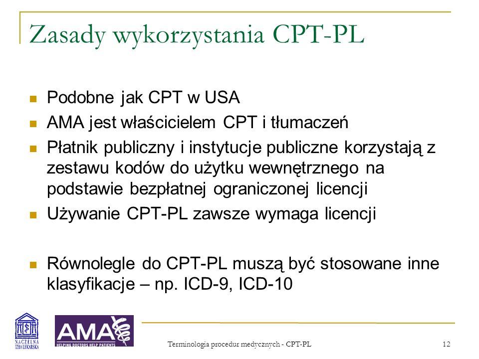 Zasady wykorzystania CPT-PL