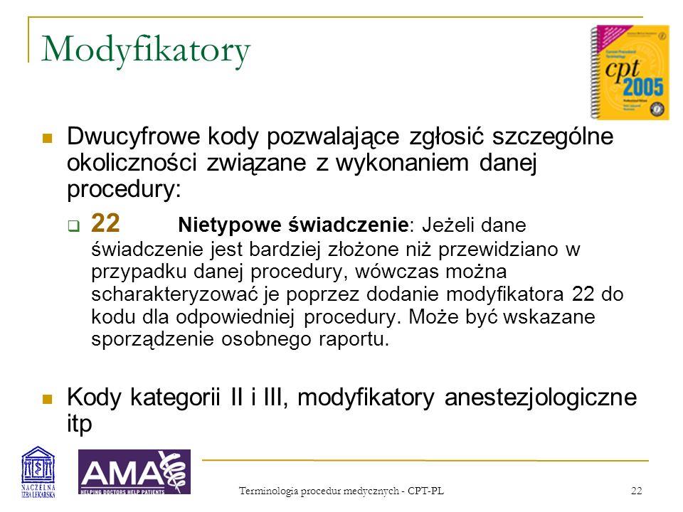Terminologia procedur medycznych - CPT-PL
