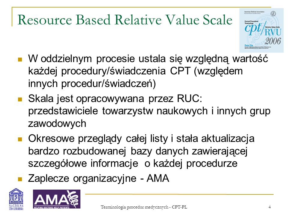 Resource Based Relative Value Scale