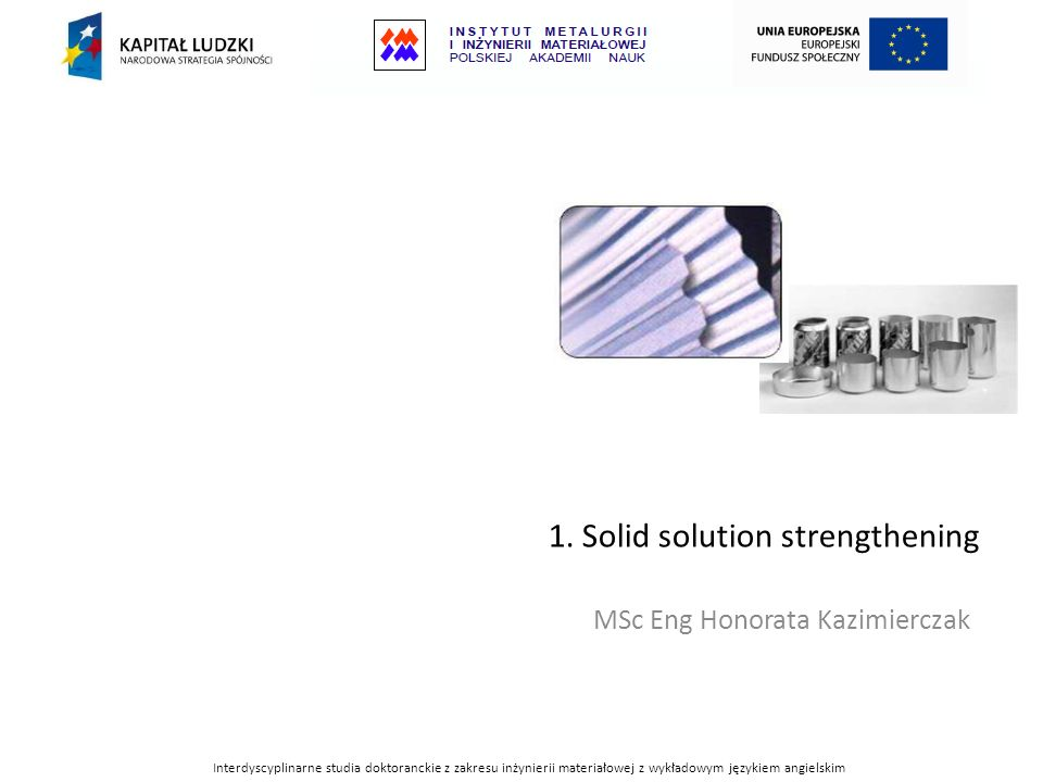 1. Solid solution strengthening