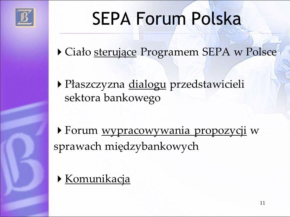 SEPA Forum Polska Ciało sterujące Programem SEPA w Polsce