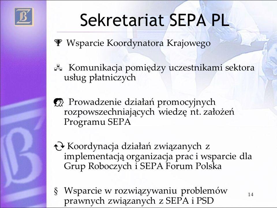 Sekretariat SEPA PL Wsparcie Koordynatora Krajowego