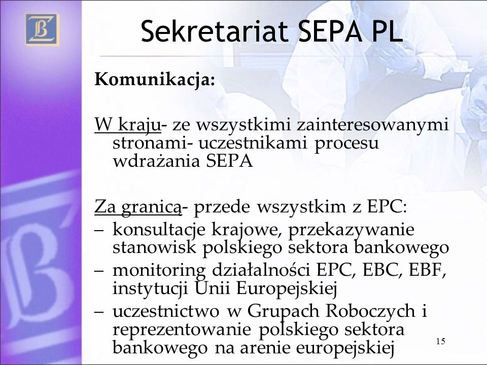 Sekretariat SEPA PL Komunikacja: