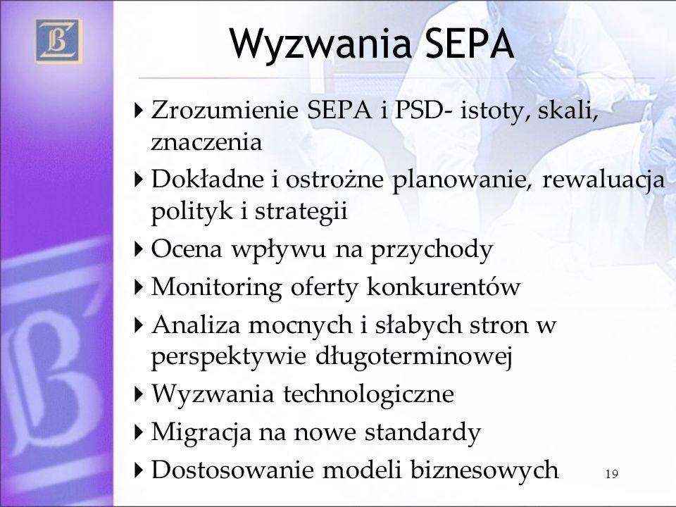 Wyzwania SEPA Zrozumienie SEPA i PSD- istoty, skali, znaczenia