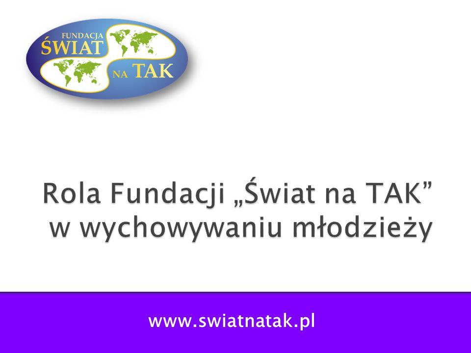 """Rola Fundacji """"Świat na TAK w wychowywaniu młodzieży"""