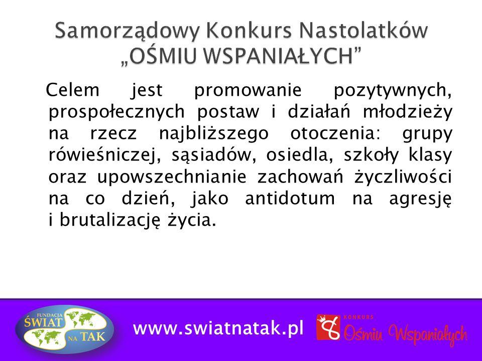 """Samorządowy Konkurs Nastolatków """"OŚMIU WSPANIAŁYCH"""
