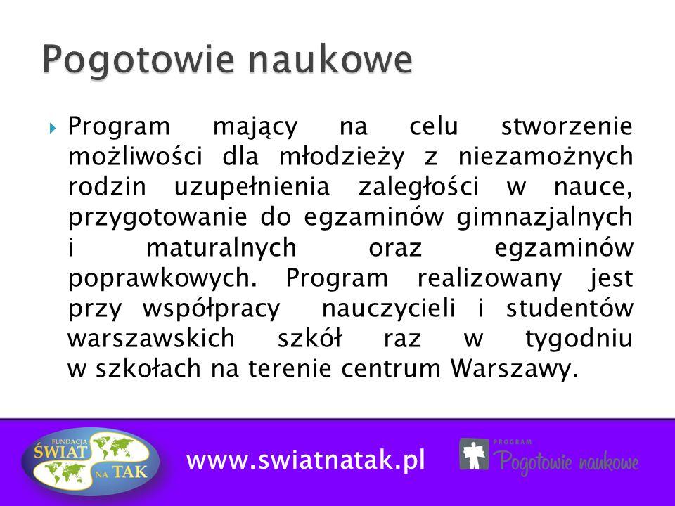 Pogotowie naukowe www.swiatnatak.pl