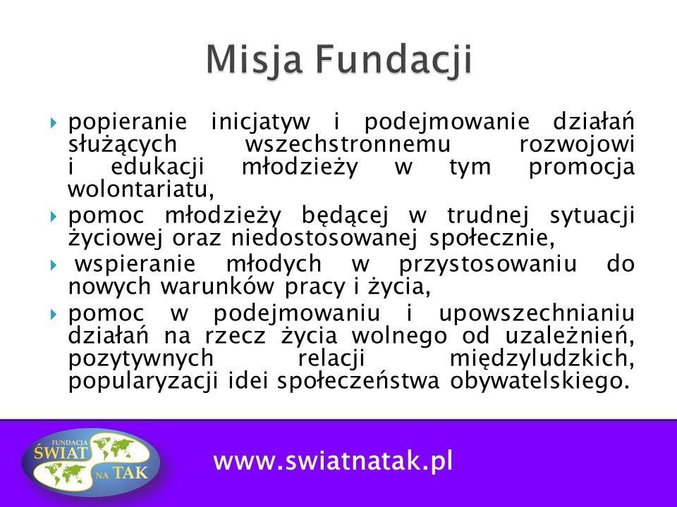 Misja Fundacji www.swiatnatak.pl